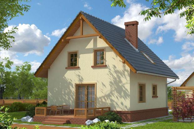 Mały, tradycyjny dom idealny na małą działkę. Zobacz projekt!