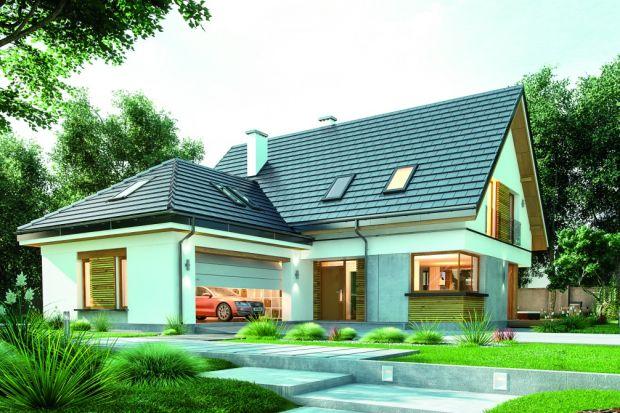 Prezentujemy parterowy dom z poddaszem użytkowym, zbudowany na planie prostokąta przykrytego dwuspadowym dachem, z garażem przykrytym trzyspadowym zadaszeniem. Rezydencjęzaprojektowano jako wygodne miejsce do życia dla 4-6-osobowej rodziny.