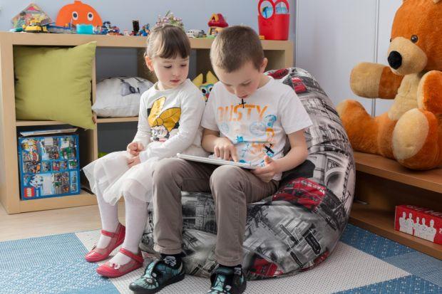Worek do siedzenia w pokoju dziecka