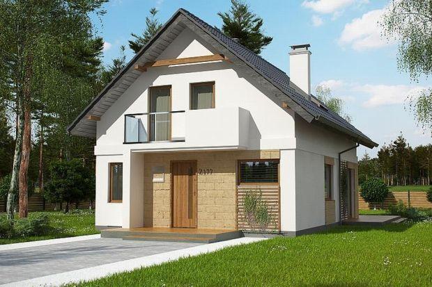 Z177 + to projekt domu z poddaszem użytkowym. Prosta, zgrabna bryła, dwuspadowy dach oraz ciekawe wykończenie elewacji nadają mu charakterystycznego wyglądu.