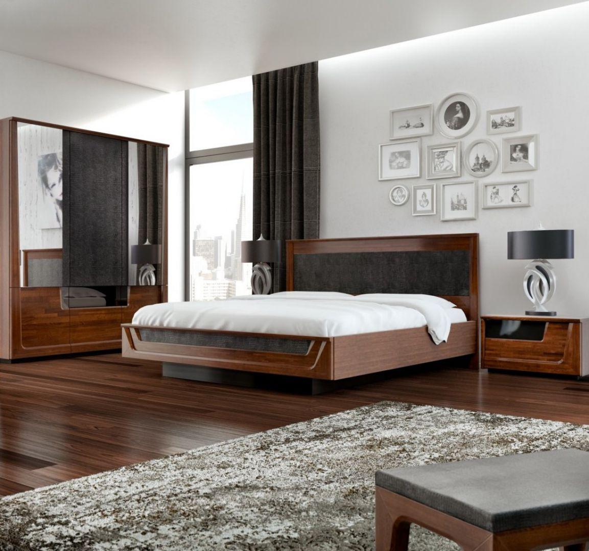 Łóżko, tak jak pozostałe sprzęty w sypialni, powinno mieć swój styl. Spowite w miękkie jedwabie, szlachetne atłasy i dekoracyjne adamaszki, jest przecież najpiękniejszą ozdobą tego pomieszczenia.  Fot. Mebin