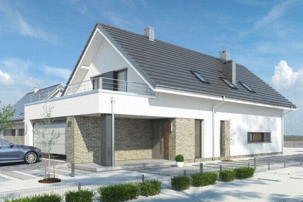 Salsa to projekt jednorodzinnego domu z poddaszem użytkowym przeznaczony dla 4-, a nawet i 6-osobowej rodziny. Wyróżnia go prosta bryła przykryta dwuspadowym dachem, z wystającą nieco poza główną bryłę parterową częścią garażu. Projekt prz