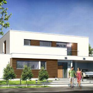 Architektonicznie dom Willa l' Azur nawiązuje do modernistycznych, XX-wiecznych willi z płaskimi dachami – we współczesnym ujęciu, z zastosowaniem nowoczesnych materiałów i rozwiązań. Dom jest jednocześnie ciekawy i intrygujący, zarazem stonowany i powściągliwy w wyrazie. Fot. MG Projekt
