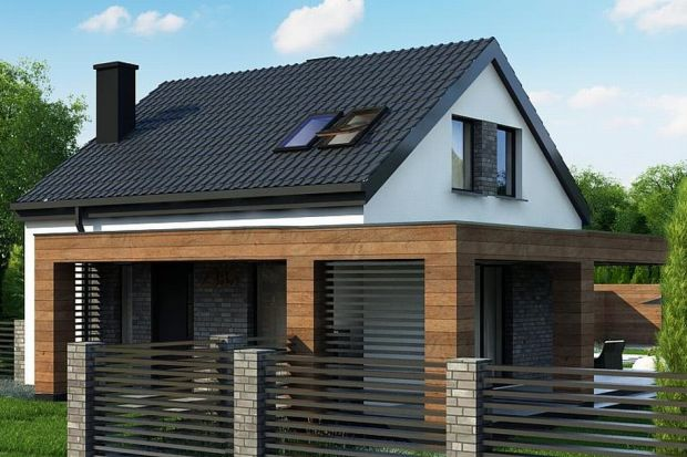 """Tradycyjny dom z """"bogatym"""" wnętrzem 95 m kw. Zobacz projekt!"""