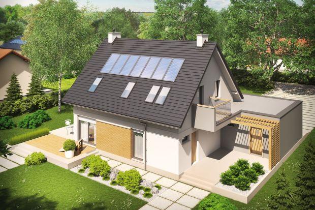 Tobiasz II G2 to dom, który nawiązuje do modernistycznego minimalizmu. Klasyczną bryłę z prostym dwuspadowym dachem, zgrabnie wzbogacono o obszerny, dwustanowiskowy garaż w formie prostopadłościanu. Interesującym elementem architektury budynku je