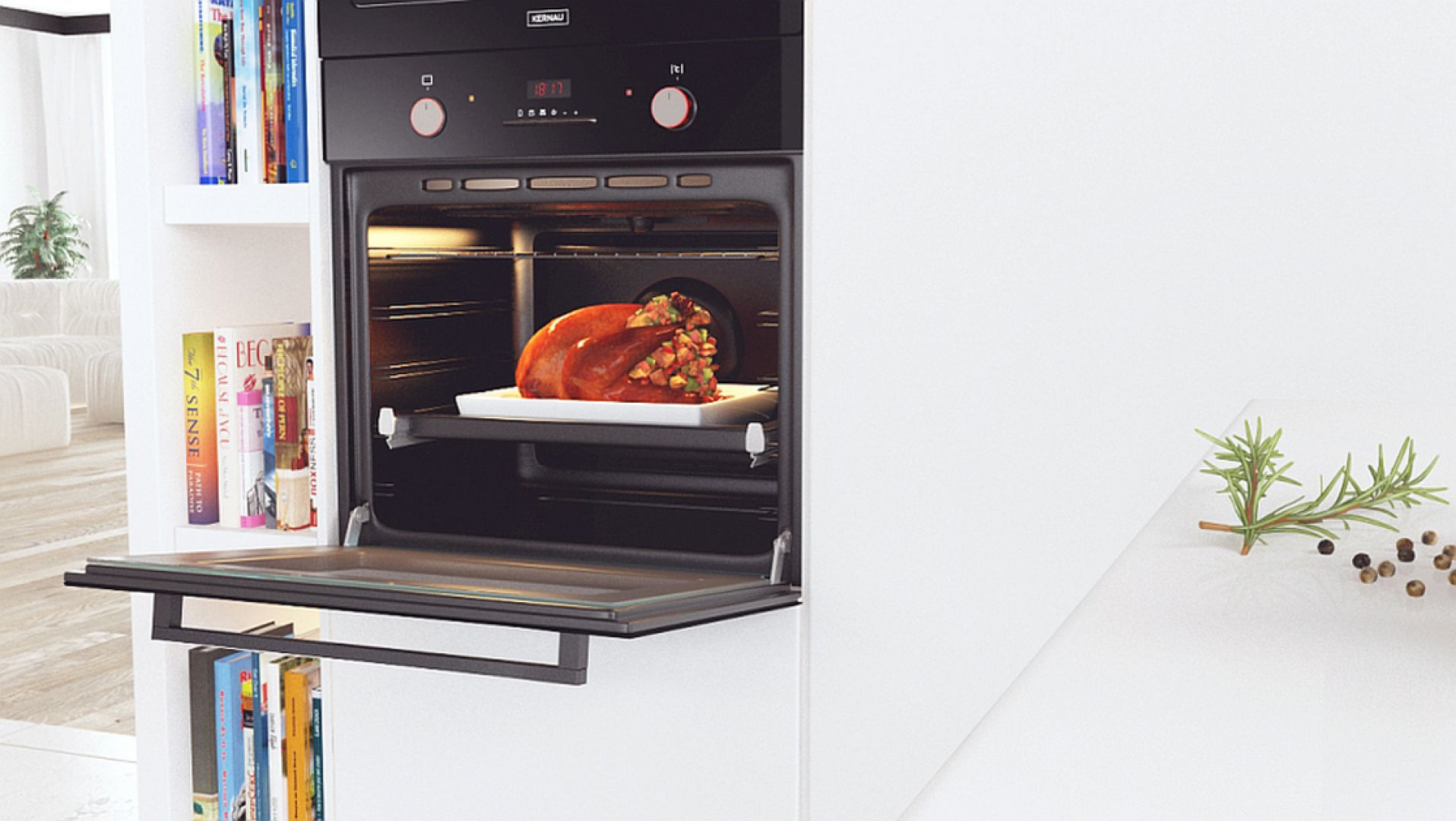 Kolejnym, silnie eksploatowanym w czasie przedświątecznych przygotowań sprzętem AGD jest piekarnik. Zdarza się, że po wyciągnięciu dania, czekając aż piekarnik się wystudzi, zapominamy o jego umyciu, a przypalone resztki pozostają na blachach i ruszcie. Fot. Kernau