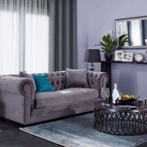 Sofa Chesterfield Classic Velvet Dark Grey. Fot. Dekoria.pl