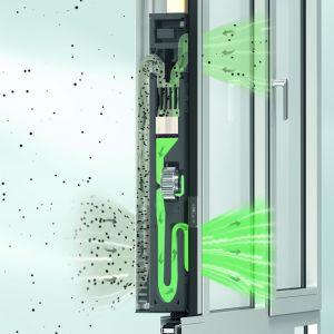 W budynkach niemal zeroenergetycznych wymiana powietrza może być realizowana również przy zamkniętych oknach. Fot. Schüco