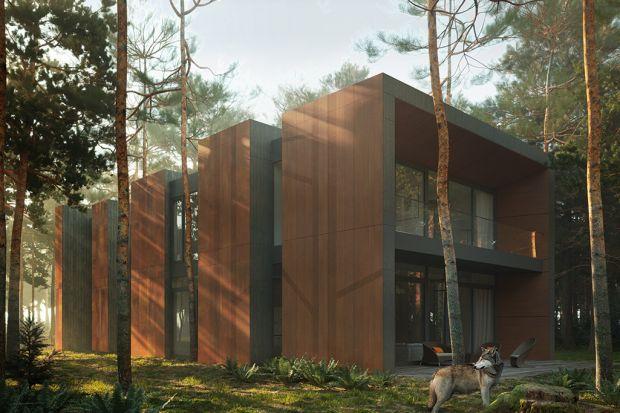 Dom wpisany w las