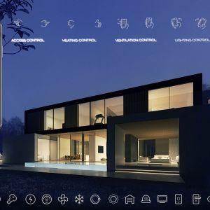 Wszystkimi funkcjami domu można sterować z poziomu smartfona. Wizualizacje & Grafika: BXBstudio Bogusław Barnaś & Looma