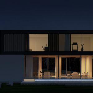 Smart House to zwarty, nowoczesny budynek o minimalistycznej formie architektonicznej. Wizualizacje & Grafika: BXBstudio Bogusław Barnaś & Looma