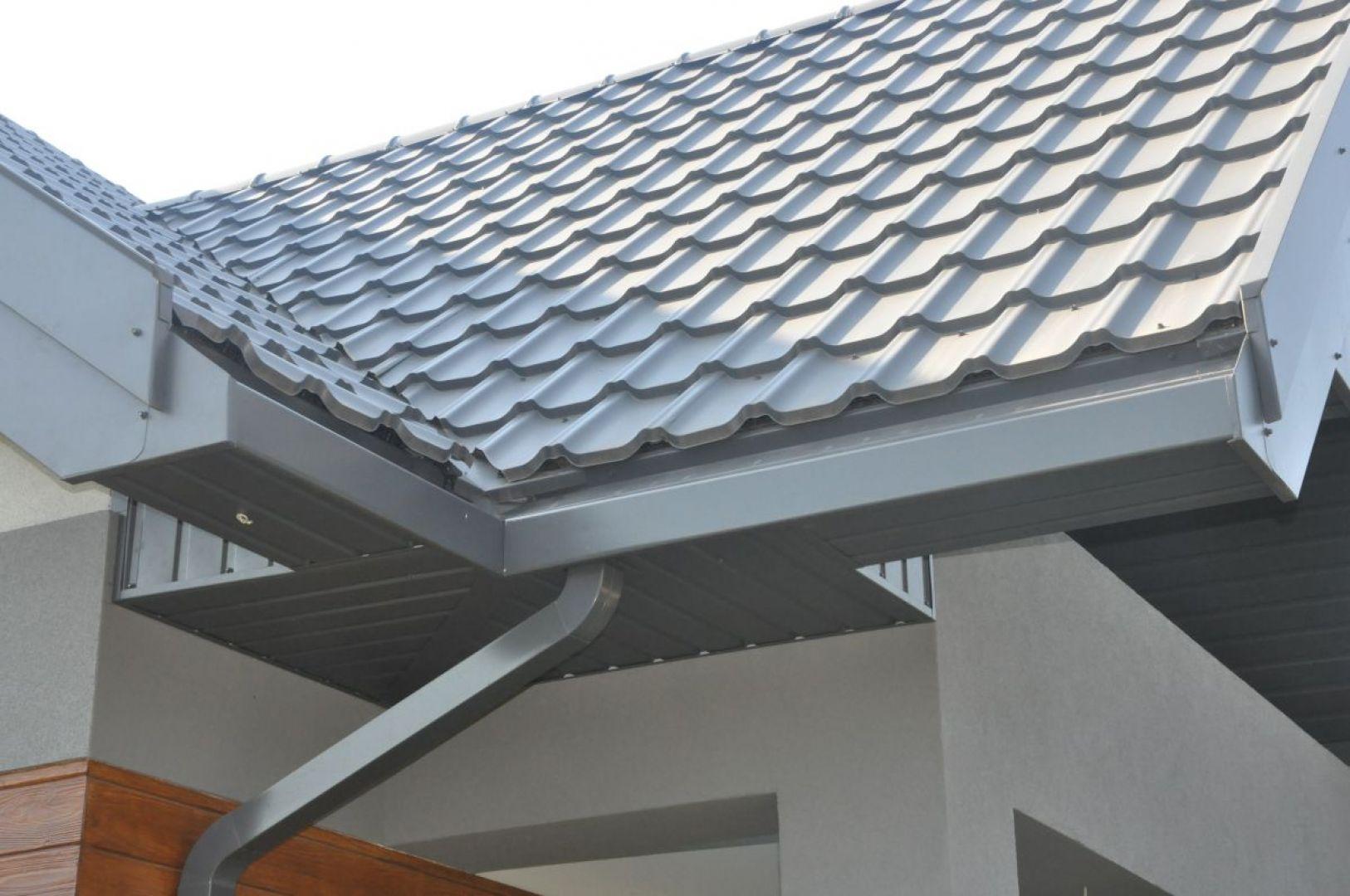 Galeco Stal2 charakteryzuje się innowacyjnym kształtem profilu rynny i rury spustowej. Fot. Galeco
