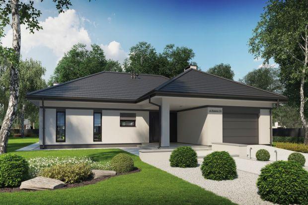 Projekt parterowego domu o powierzchni 124 m kw.