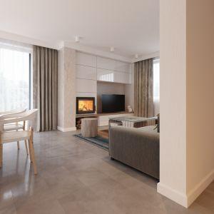 Pomimo niewielkiej powierzchni użytkowej (85,90 m kw.) domu jego wnętrza zaprojektowano funkcjonalnie i komfortowo. Fot. MTM Styl