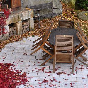 Gruntowne czyszczenie przydomowych nawierzchni powinniśmy rozpocząć od zamiatania i mycia. Fot. 123rf.com