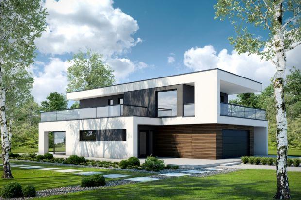 """Przestronny D40 to projekt, piętrowego, nowoczesnego domu z """"bogatym"""" programem funkcjonalnym, zapewniającym wysoki komfort mieszkania."""