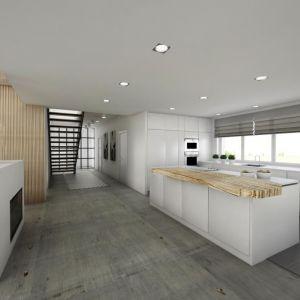 Surowy minimalizm. We wnętrzu, zaaranżowanym w stylu minimalistycznym z elementami loftowymi, panuje surowy klimat, który podkreśla betonowa posadzka. Fot. MGN