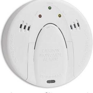 Czujnik czadu. Podczas wydzielania się minimalnej ilości tlenku węgla w powietrzu, na elektrodzie urządzenia zachodzi reakcja utleniania, która zaś powoduje przepływ prądu oraz uruchomienie się sygnału alarmowego. Fot. Jawar
