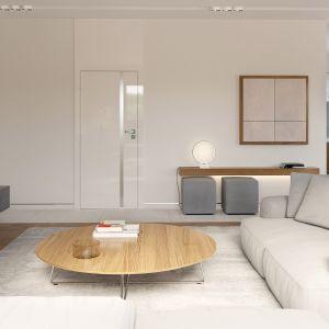 Wygodne kanapy w salonie umożliwiają relaks i miłe spędzanie czasu przed telewizorem. Fot. HomeKONCEPT