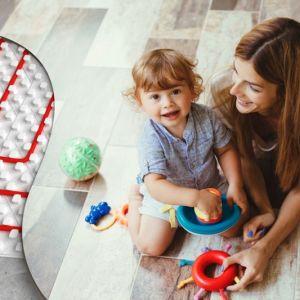 Ogrzewanie podłogowe doskonale odpowiada potrzebom dzieci. Fot. Knauf Therm