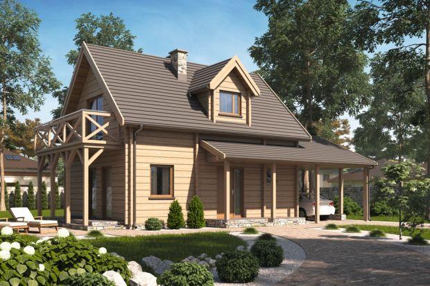 D126 to dom mieszkalny jednorodzinny w technologii drewnianej – bal - płazy drewniane. Idealny dla 4-5-osobowej rodziny.