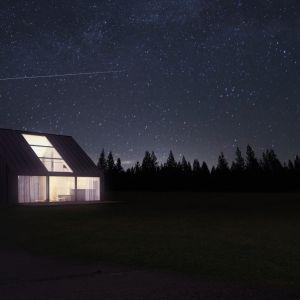 Śmiałym rozwiązaniem będzie duże przeszklenie dachu. Fot. Malinowski Studio
