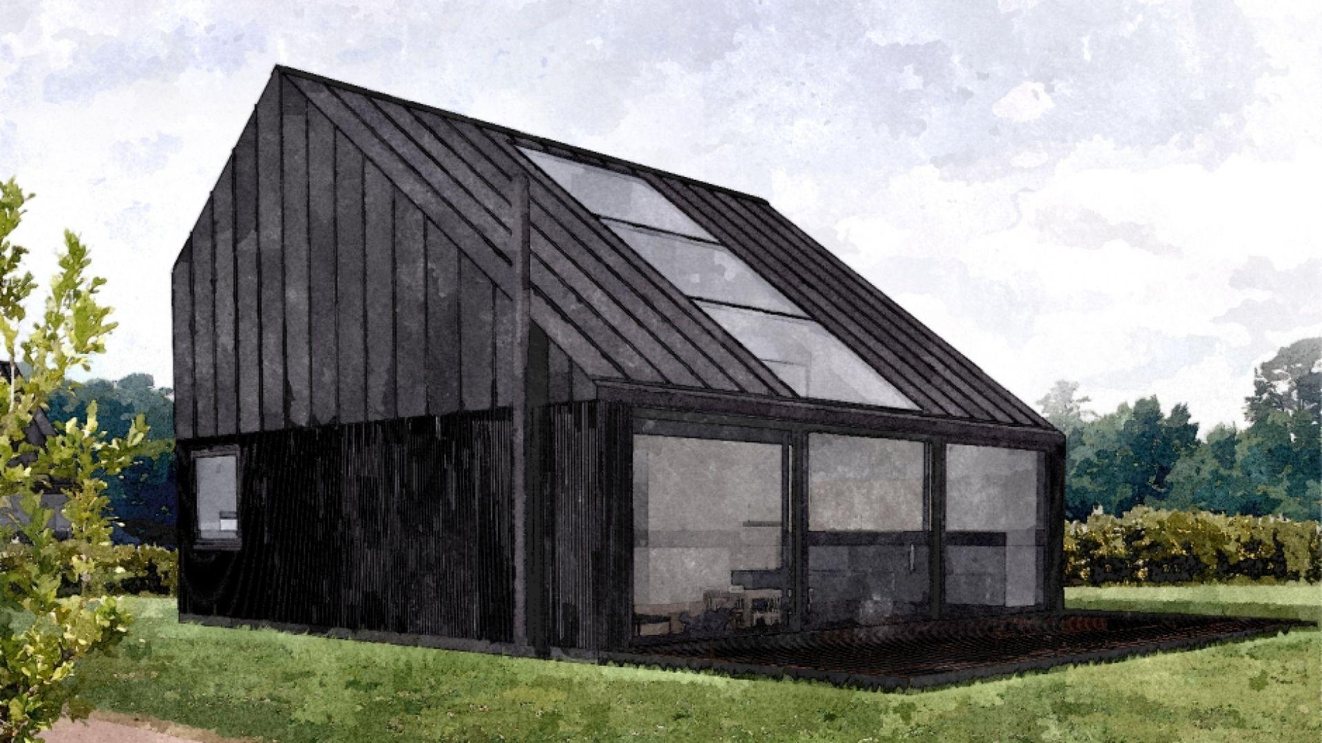 Forma budynku wynika z warunków zabudowy, które narzucają dach dwuspadowy. Fot. Malinowski Studio