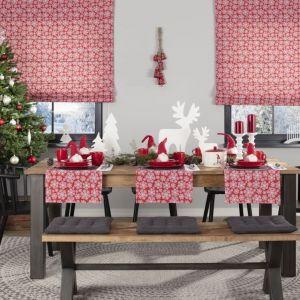 Bieżnik prostokątny, kolekcja tkanin Christmas, dekoracja Skrzat I, dekoracja Deer. Fot. Dekoria.pl