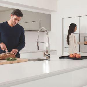Zdecydowane linie i solidne, architektoniczne kształty kolekcji Eurocube są idealne dla nowoczesnej kuchni. Fot. Grohe