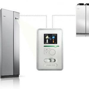 System NIBE składający się z rekuperatora NIBE ERS i powietrznej lub gruntowej pompy ciepła NIBE.