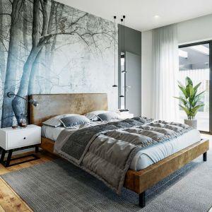 Centralne miejsce w sypialni zajmuje wygodne łóżko Fot. HomeKONCEPT