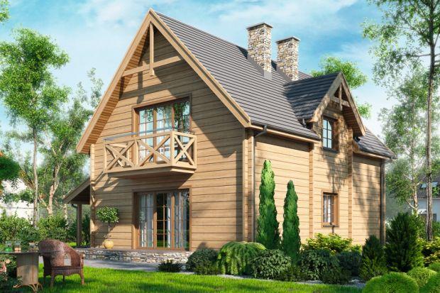 D121 to dom mieszkalny jednorodzinny w technologii drewnianej – bal. Idealny dla 4-5-osobowej rodziny.