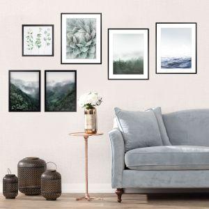 Obrazy Mystery, Succulent, stolik Orpin Coppe, lampiony Nadia. Fot. Dekoria.pl