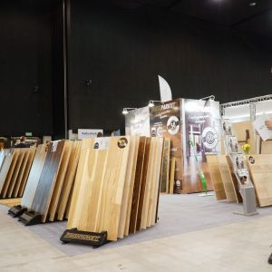 Stoisko firmy Finishparkiet w trakcie 4 Design Days 2019