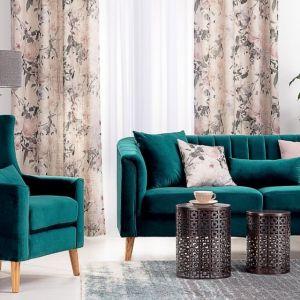 Sofa i fotel Meriva Velvet sea green. Fot. Dekoria.pl