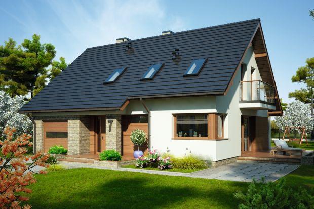 Emilia mała to projekt domu jednorodzinnego z poddaszem użytkowym, dla 4-6-osobowej rodziny.
