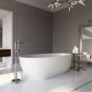 Francuski eklektyzm w salonie kąpielowym. Fot. Ferro
