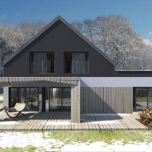 Dach garażu można wykorzystać jako taras rekreacyjny. Fot. Studio BB Architekci