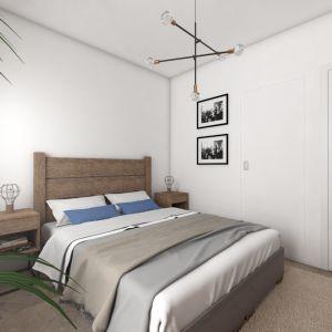W sypialni do zrobienia mebli również wykorzystano drewno z odzysku. Fot. MGN