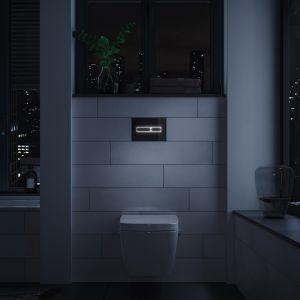 Dzięki przyciskom, takim jak np. TECElux mini, korzystanie z łazienki staje się bezpieczne, a utrzymanie czystości proste i mniej pracochłonne. Fot. TECE