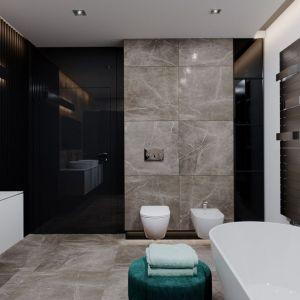 Czerń w łazience nadaje jej eleganckiego, nowoczesnego charakteru. Fot. HomeKONCEPT