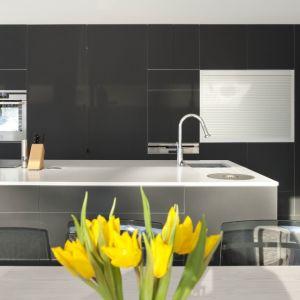 Delikatna, klasyczna biel dobrze komponuje się z odcieniami szarości i czerni. Fot. TechniStone