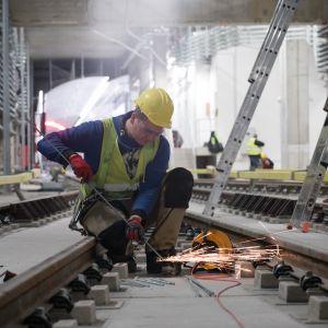 Prace podczas budowy II linii metra. Fot. Metro Warszawskie