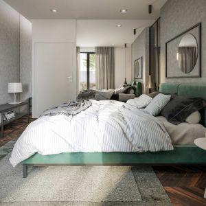 Lustra w sypialni, oprócz swej podstawowej funkcji, powiększają optycznie wnętrze. Fot. HomeKONCEPT