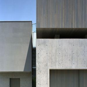 """Dom został stworzony na planie litery """"L"""". Tworzą go trzy sześciany podzielone wąskimi szczelinami.Fot. FujiwaraMuro Architects"""