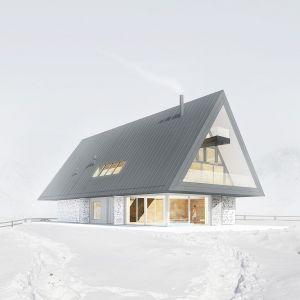 Dom z prywatnym Giewontem. Fot. BXBstudio Bogusław Barnaś