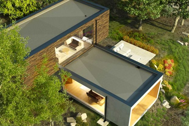 Zmieniające się trendy architektoniczne przywróciły modę na domy ze stropodachami oraz obiekty, które w swojej bryle zawierają duże powierzchnie płaskie w postaci tarasów czy lukarn. Budynki tego typu charakteryzują się nowoczesnym wyglądem,
