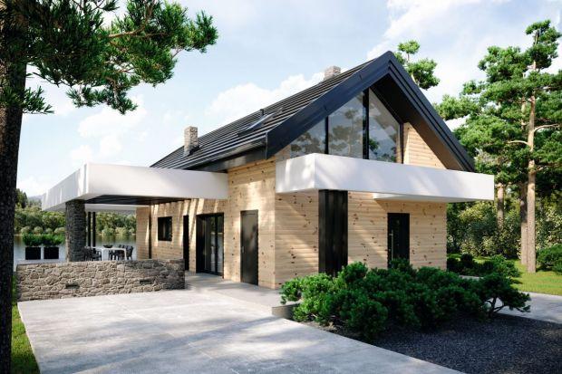 Projekt małego, nowoczesnego domu z pięknym tarasem
