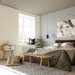 Wpływ na komfort przebywania w pomieszczeniach ma również kolorystyka wnętrza. W sypialni dobrze sprawdzą się np. ciepłe beże, brązy czy też wszelkie pastelowe odcienie – zwłaszcza delikatne błękity – kojarzące się ze spokojem i bezpieczeństwem, czy zielenie – symbolizujące naturę i harmonię. Fot. Magnat