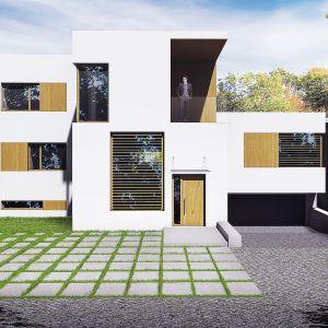 Celem architektów było przeprojektowanie układu w taki sposób, aby do domu można było wejść bezpośrednio z poziomu terenu, co więcej, aby wejście do domu znalazło się od strony drogi dojazdowej. Wiz. BXBstudio Bogusław Barnaś